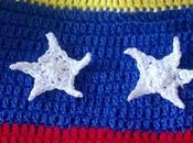 Gorro bandera tejido estrellas crochet (With flag your head)