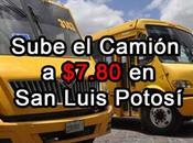 Sube tarifa camión 7.80 Luis Potosí
