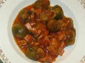 Coles bruselas champiñones, bacon tomate