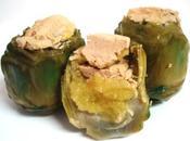 Alcachofas rellenas manzana mousse canard