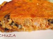 Quiche (tarta salada) bacalao mejillones