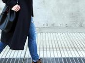 long grey coat leopard booties outfit