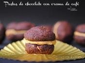 Pastas chocolate crema café. Receta
