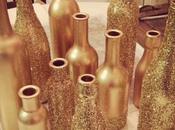 Botellas pintadas para decorar boda