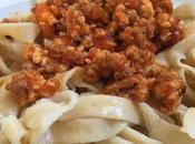 Pasta fresca casera carne picada tomate.- desafío rápido, fácil riquísimo
