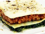 Lasaña vegana espinacas soja
