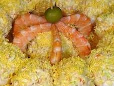 Huevos rellenos marisco