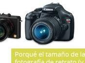 Porqué tamaño cámara importa fotografía retrato mucho)