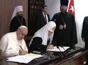 histórica declaración conjunta Papa Francisco Patriarca Kiril