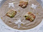 Ideas entrantes primer plato para menú valentín. crema setas perfumada trufa ravioli gamba jamón
