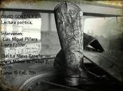 David González: Recital Poético: Mañana, febrero 2016: