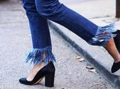 Cropped, flared, mon, cigarrette ragged jeans