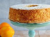 Angel food cake naranja
