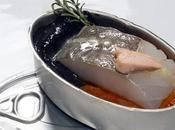 """Hoy, #366Recetas """"Latita bacalao confitado aceite romero, huevas prensadas, foie gras, asados, vizcaína, pilpil, alioli olivas negras tapenade"""" @IrreverenteDP"""