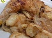 Pollo asado hierbas provenzales papas