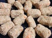 Croquetas frías garbanzos zanahorias sésamo tostado