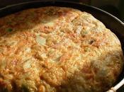 Tortilla guisantes, habas frescas jamon serrano