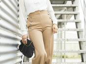 Pantalones Abotonados Blusa Lazo- Button Pants Lace Blouse