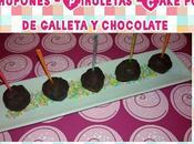 Chupones Cake pops galleta chocolate. Receta para niños!!