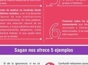 para detectar pseudociencias Carl Sagan (Infografía)