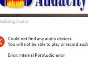 Audacity funciona Windows solución