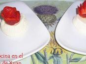 Mousse requesón fresas