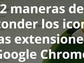 maneras esconder iconos extensiones barra herramientas Google Chrome