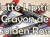 Matte Lipstick Crayon Golden Rose
