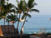 Ahuena Heiau. chozas sagradas. Isla Grande, Kona. Hawai