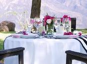 mesa romántica primaveral
