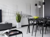 Decoración blanco negro apartamento