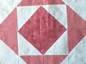 Bloque Quilt half square triangle