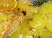 Salmón salsa naranja