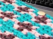 Funda para portátil tablet crochet