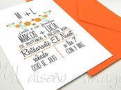 Invitaciones boda PRIMAVERA
