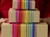 Envolver regalos lanas colores