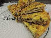 Tortilla champiñon, jamón pavo,romanesca queso rulo cabra.