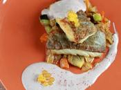 Bacalao skrei hortalizas salsa peruana aceitunas. Receta