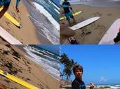 Aprendiendo surfear Puerto Rico: primera clase,