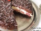 Tarta fresas nata chocolate