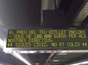 Mensaje metro Barcelona