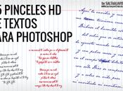Pinceles Textos para Photoshop