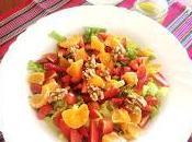 Ensalada frutal primavera tomates cherry vinagreta cilantro