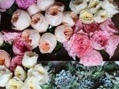 Letras decoradas flores para boda