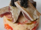 receta: timbal patata pimiento atún olivada