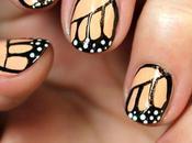 Alas mariposa monarca uñas paso