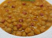 Garbanzos arroz olla