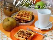 Gofres manzana canela cinnamon apple waffles
