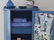 mueble azul casa