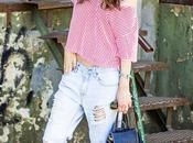 Stripes Boyfriend Jeans